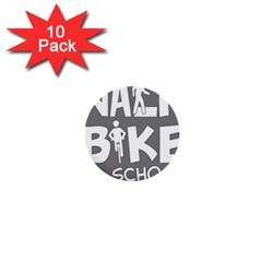 Bicycle Walk Bike School Sign Grey 1  Mini Buttons (10 Pack)