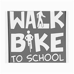 Bicycle Walk Bike School Sign Grey Small Glasses Cloth