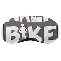 Bicycle Walk Bike School Sign Grey Sleeping Masks