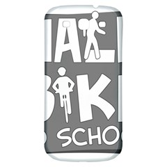 Bicycle Walk Bike School Sign Grey Samsung Galaxy S3 S III Classic Hardshell Back Case