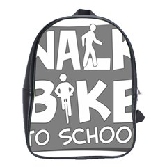 Bicycle Walk Bike School Sign Grey School Bags (xl)