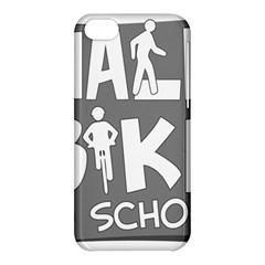 Bicycle Walk Bike School Sign Grey Apple iPhone 5C Hardshell Case