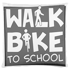 Bicycle Walk Bike School Sign Grey Standard Flano Cushion Case (Two Sides)