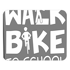 Bicycle Walk Bike School Sign Grey Double Sided Flano Blanket (Large)