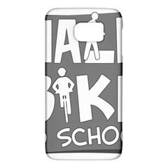 Bicycle Walk Bike School Sign Grey Galaxy S6