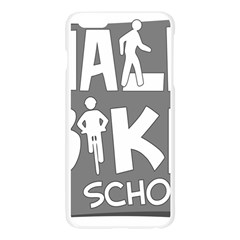 Bicycle Walk Bike School Sign Grey Apple Seamless iPhone 6 Plus/6S Plus Case (Transparent)