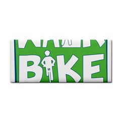 Bicycle Walk Bike School Sign Green Blue Cosmetic Storage Cases