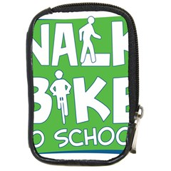 Bicycle Walk Bike School Sign Green Blue Compact Camera Cases