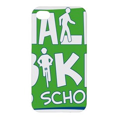Bicycle Walk Bike School Sign Green Blue Apple iPhone 4/4S Hardshell Case
