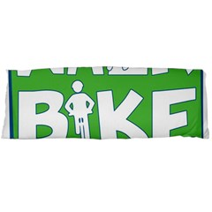 Bicycle Walk Bike School Sign Green Blue Body Pillow Case (Dakimakura)