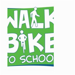 Bicycle Walk Bike School Sign Green Blue Large Garden Flag (Two Sides)