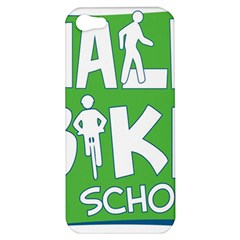 Bicycle Walk Bike School Sign Green Blue Apple Iphone 5 Hardshell Case