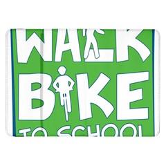 Bicycle Walk Bike School Sign Green Blue Samsung Galaxy Tab 8.9  P7300 Flip Case