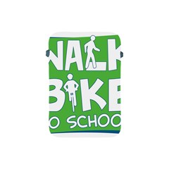 Bicycle Walk Bike School Sign Green Blue Apple iPad Mini Protective Soft Cases