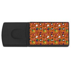Wine Cheede Fruit Purple Yellow Orange USB Flash Drive Rectangular (1 GB)