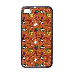Wine Cheede Fruit Purple Yellow Orange Apple Iphone 4 Case (black)