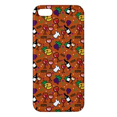 Wine Cheede Fruit Purple Yellow Orange Apple iPhone 5 Premium Hardshell Case