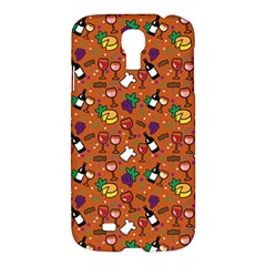 Wine Cheede Fruit Purple Yellow Orange Samsung Galaxy S4 I9500/I9505 Hardshell Case