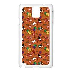 Wine Cheede Fruit Purple Yellow Orange Samsung Galaxy Note 3 N9005 Case (White)