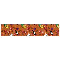 Wine Cheede Fruit Purple Yellow Orange Flano Scarf (Small)