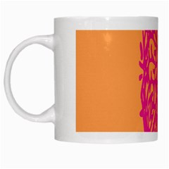 Brian Pink Green Orange Smart White Mugs