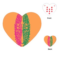 Brian Pink Green Orange Smart Playing Cards (Heart)