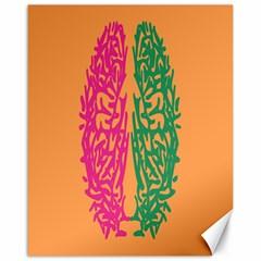 Brian Pink Green Orange Smart Canvas 16  x 20