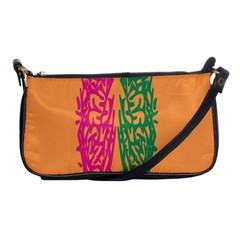 Brian Pink Green Orange Smart Shoulder Clutch Bags