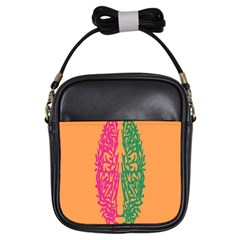 Brian Pink Green Orange Smart Girls Sling Bags