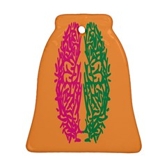 Brian Pink Green Orange Smart Bell Ornament (Two Sides)