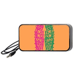 Brian Pink Green Orange Smart Portable Speaker (Black)