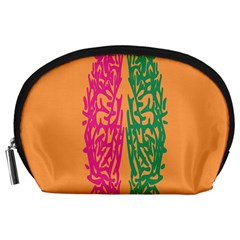 Brian Pink Green Orange Smart Accessory Pouches (Large)