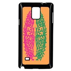 Brian Pink Green Orange Smart Samsung Galaxy Note 4 Case (black)