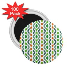 Chevron Wave Green Orange 2.25  Magnets (100 pack)