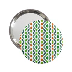 Chevron Wave Green Orange 2.25  Handbag Mirrors
