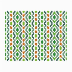 Chevron Wave Green Orange Small Glasses Cloth (2-Side)
