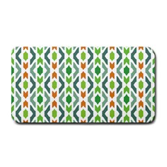 Chevron Wave Green Orange Medium Bar Mats