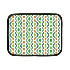 Chevron Wave Green Orange Netbook Case (Small)