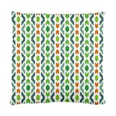 Chevron Wave Green Orange Standard Cushion Case (One Side)