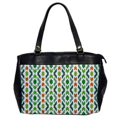 Chevron Wave Green Orange Office Handbags