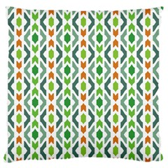 Chevron Wave Green Orange Large Flano Cushion Case (Two Sides)