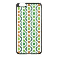 Chevron Wave Green Orange Apple iPhone 6 Plus/6S Plus Black Enamel Case