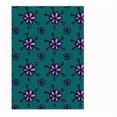 Blue Purple Floral Flower Sunflower Frame Large Garden Flag (Two Sides)