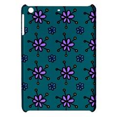 Blue Purple Floral Flower Sunflower Frame Apple iPad Mini Hardshell Case