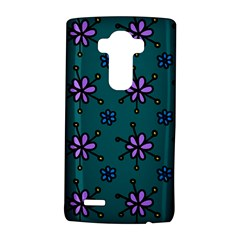 Blue Purple Floral Flower Sunflower Frame LG G4 Hardshell Case