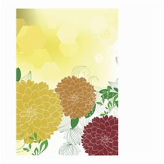 Abstract Flowers Sunflower Gold Red Brown Green Floral Leaf Frame Small Garden Flag (Two Sides)