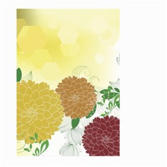 Abstract Flowers Sunflower Gold Red Brown Green Floral Leaf Frame Large Garden Flag (Two Sides)