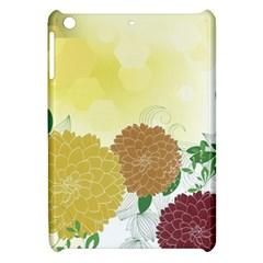 Abstract Flowers Sunflower Gold Red Brown Green Floral Leaf Frame Apple iPad Mini Hardshell Case