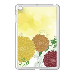 Abstract Flowers Sunflower Gold Red Brown Green Floral Leaf Frame Apple Ipad Mini Case (white)