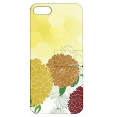 Abstract Flowers Sunflower Gold Red Brown Green Floral Leaf Frame Apple iPhone 5 Hardshell Case with Stand